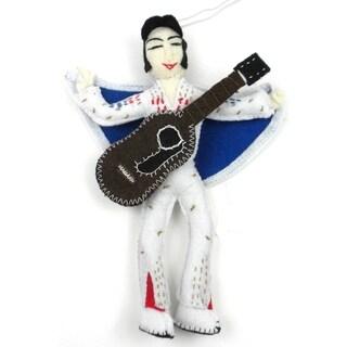 Handmade Elvis Presley Felt Ornament (Kyrgyzstan)