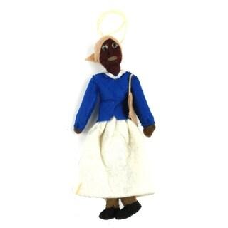 Handmade Harriet Tubman Felt Ornament (Kyrgyzstan)