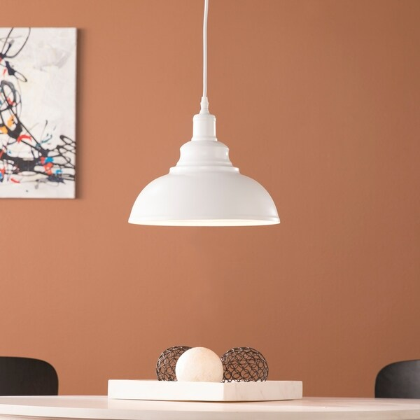 Harper Blvd Morovia Matte White Bell Pendant Lamp