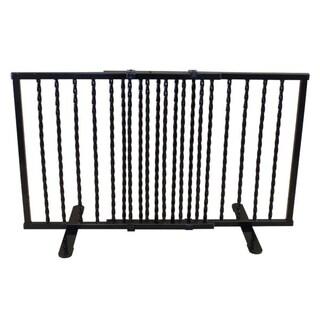 "Cardinal Gates Wrought Iron Step Over Freestanding Pet Gate 24""-41.25"" (Option: Black)"