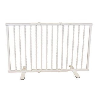 "Cardinal Gates Wrought Iron Step Over Freestanding Pet Gate 24""-41.25"" (3 options available)"