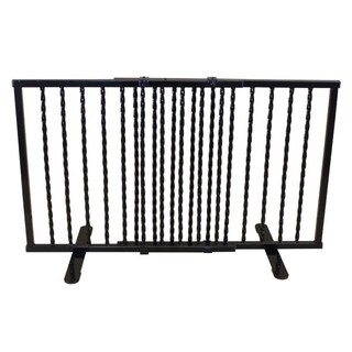 "Cardinal Gates Wrought Iron Step Over Freestanding Pet Gate 24""-41.25"""
