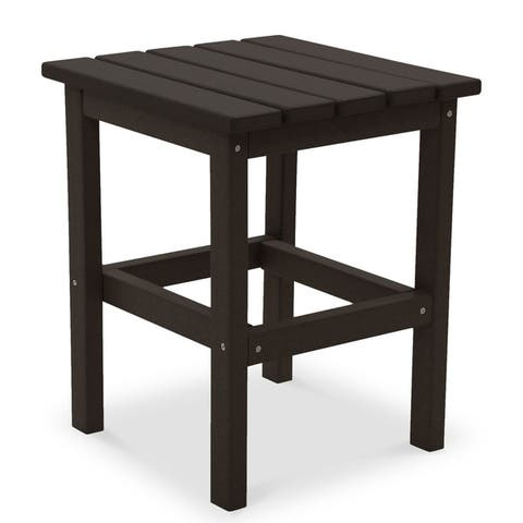 Wyndtree All-Weather Recycled Plastic Side Table, Made in USA - 15' x 15' x 18'