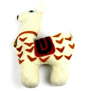 Handmade Felted Friends Llama (Kyrgyzstan)