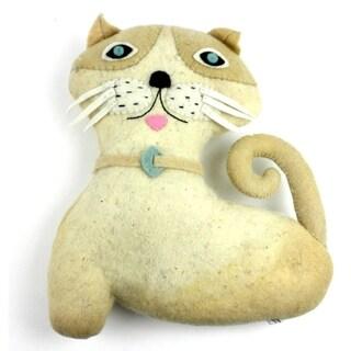 Handmade Felted Friends Cat (Kyrgyzstan)