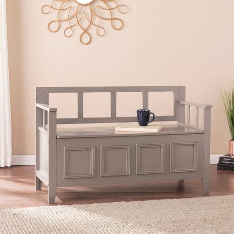 Ruckland Gray Storage Bench
