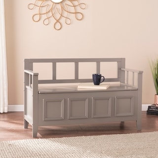 Link to Ruckland Gray Storage Bench Similar Items in Living Room Furniture