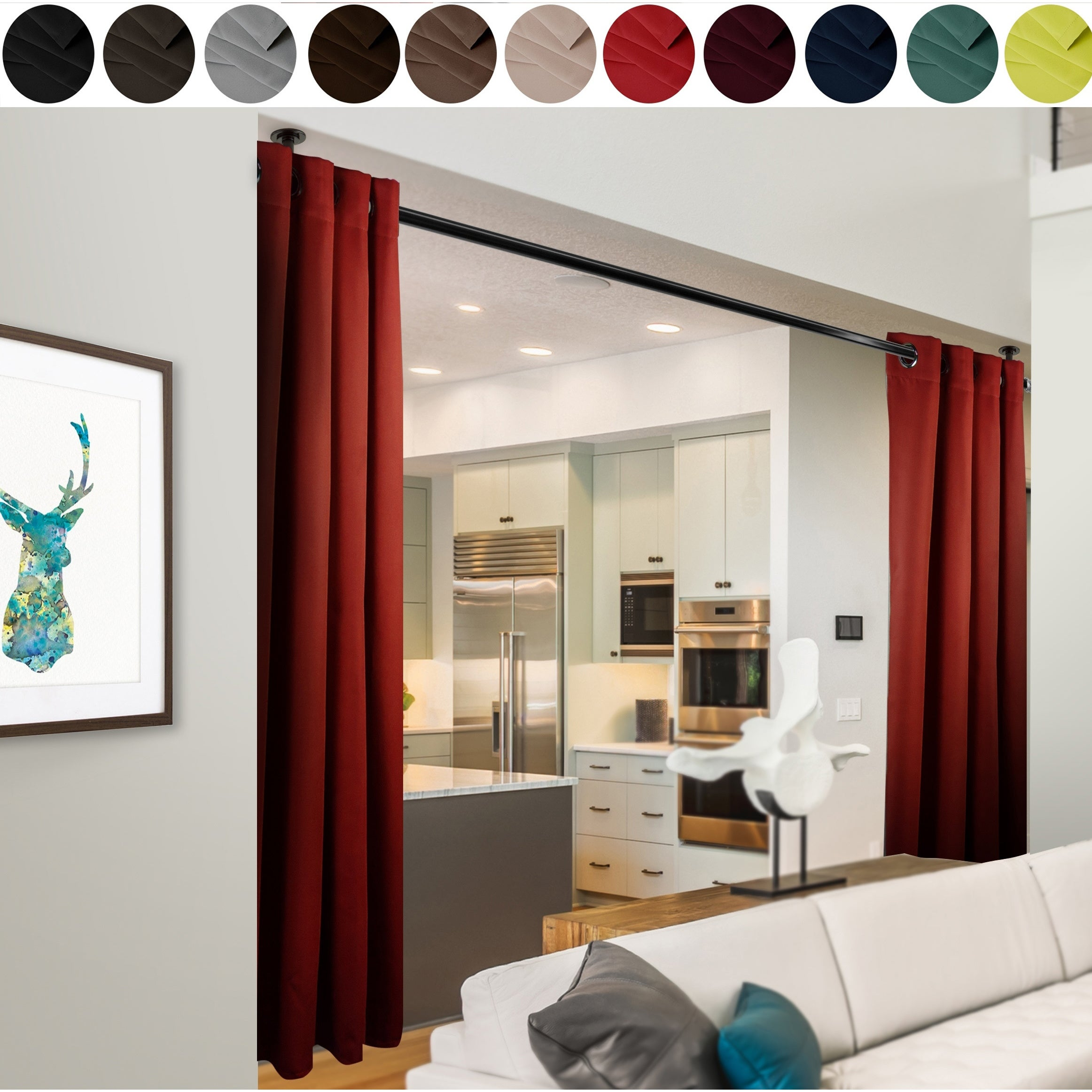 Room Divider Curtain With Grommet