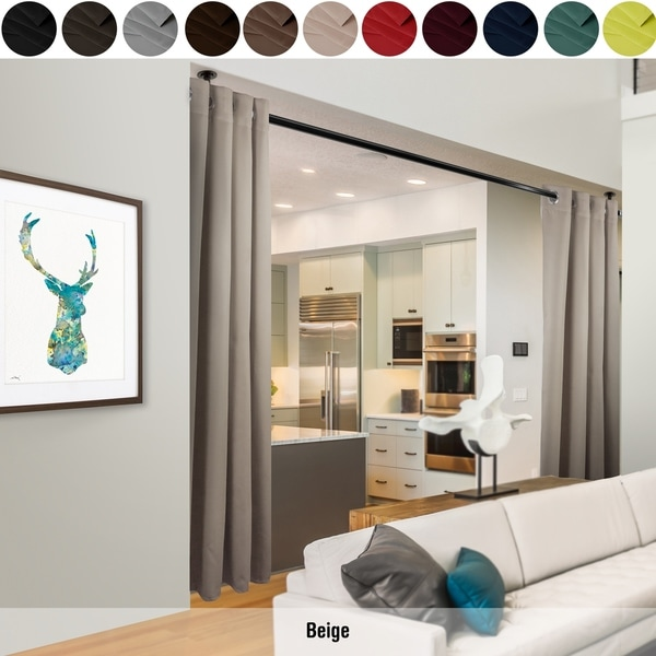 Shop Instyledesign 96h Room Divider Curtain With Grommet 1 Panel