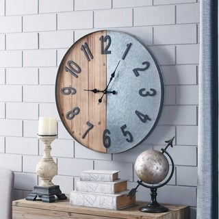 Carbon Loft Wozniak Wood/Metal Industrial Wall Clock