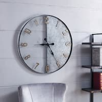 The Gray Barn Wooly Ward Galvanized Silver Oversized Wall Clock