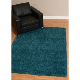 "Westfield Home Bari Chenille Teal Shag Area Rug - 7'10"" x 10'6"""