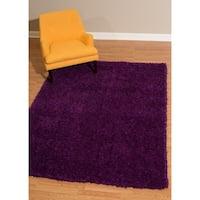 Westfield Home Bari Chenille Purple Shag Area Rug - 5'3 x 7'2