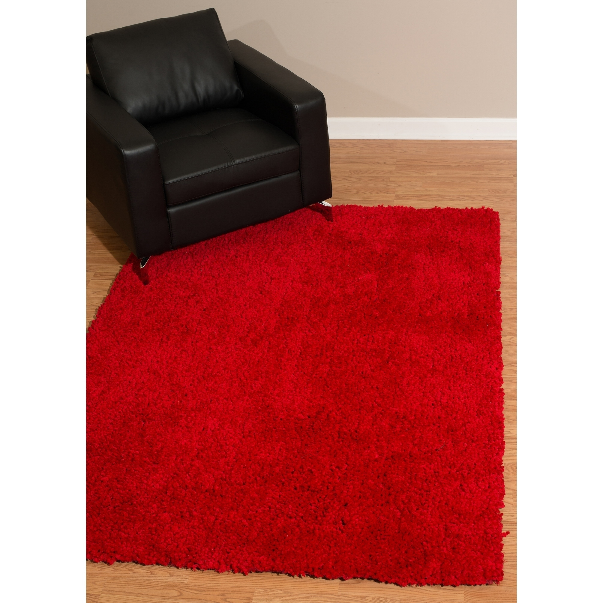 Westfield Home Bari Chenille Red Shag Accent Rug - 27 x 311