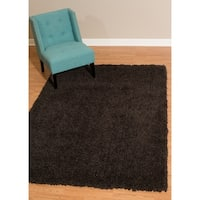 Westfield Home Bari Chenille Dark Chocolate Shag Area Rug - 5'3 x 7'2