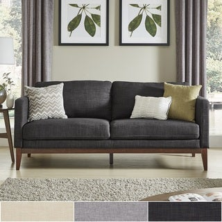 Perry Linen Upholstered Sofa And Loveseat By INSPIRE Q Modern