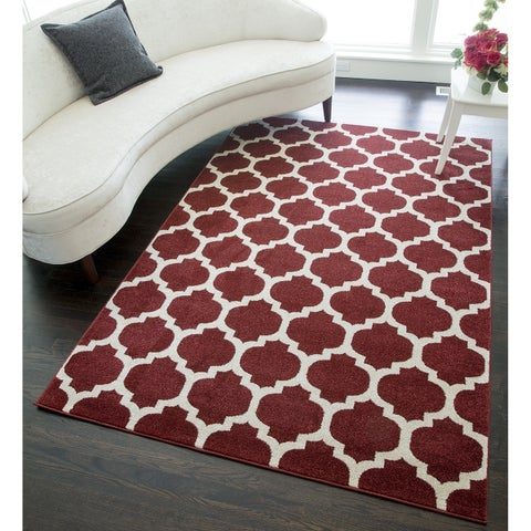 "Borough Modern Moroccan Trellis Area Rug - 5'3""x7'10"""