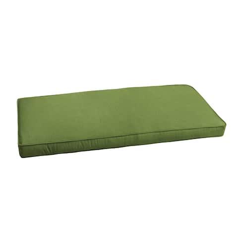 "Sunbrella Cilantro Green Indoor/ Outdoor Bench Cushion 55"" to 60"""