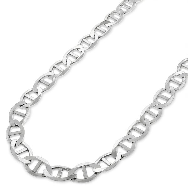 5aa9c4fb63d Sterling Silver Italian 6.5mm Mariner Anchor Link ITProLux Solid 925 Flat Necklace  Chain 16