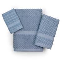 100-Percent Cotton Honeycomb Check 3-piece Towel Set