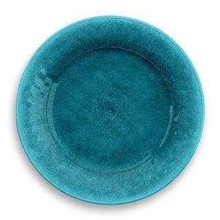 Potters Reactive Glaze Salad Plate Teal Heavy Mold