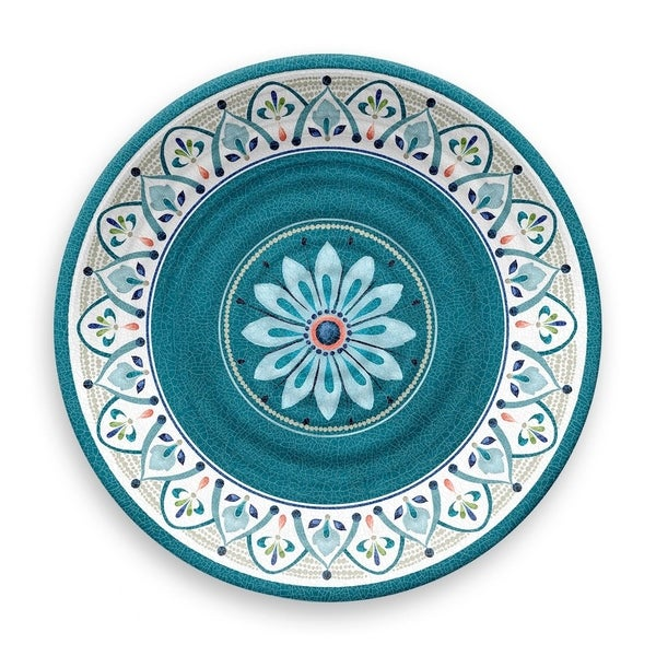 Moroccan Medallion Dinner Plate  sc 1 st  Overstock.com & Shop Moroccan Medallion Dinner Plate - On Sale - Free Shipping Today ...
