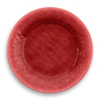 Potters Reactive Glaze Dinner Plate Red Heavy Mold