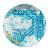 Tie Dye Hibiscus Cool Dinner Plate