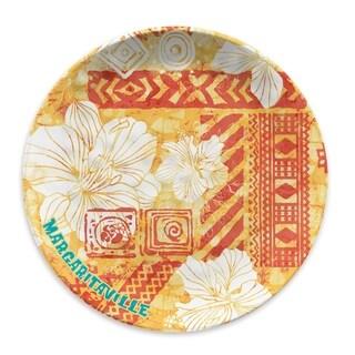 Tie Dye Hibiscus Warm Dinner Plate