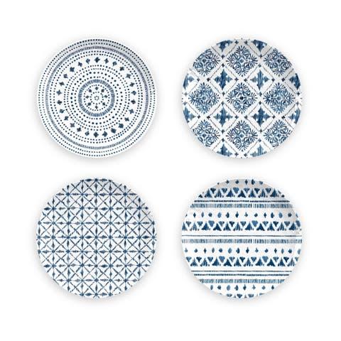 Indochine Ikat Salad Plates Set Of 4 Assorted Patterns