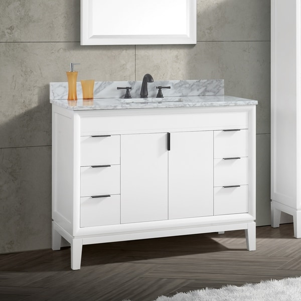 Avanity Emma 43 in. White Vanity Combo with Top and Sink