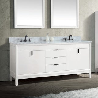 Avanity Emma 73 in. White Vanity Combo with Top and Sink