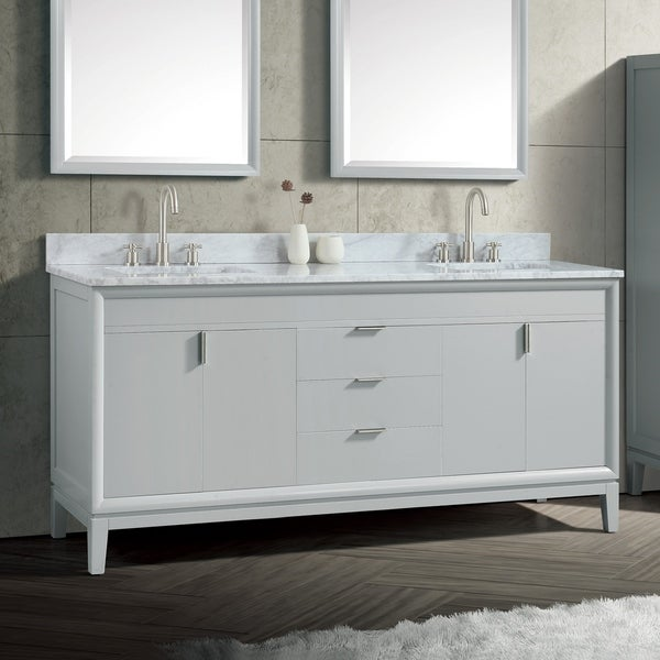 Avanity Emma 73 in. Dove Gray Vanity Combo with Top and Sink