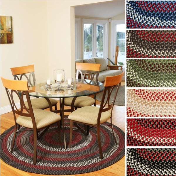 Mission Hill 4 ft Round Indoor / Outdoor Braided Area Rug - Made in USA - 4'