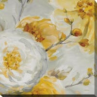 Lisa Audit 'Sunshine II ' Floral Giclee Stretched Canvas Wall Art