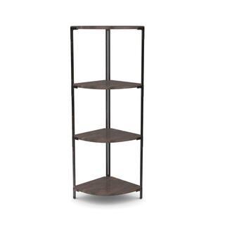 carbon loft patel distressed pine metal corner shelf - White Corner Bookshelves