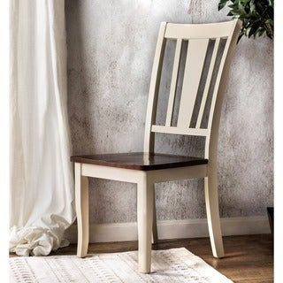 """The Gray Barn Pitchfork Two-tone Side Chair (Set of 2) - 19""""W X 20""""D X 39""""H (Seat Ht: 16 3/4"""", Seat Dp: 15"""