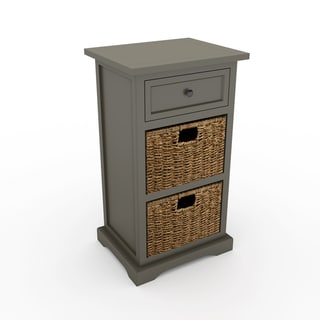 The Gray Barn Old Stone Antiqued 2-basket Chest
