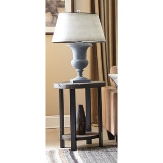 "Carbon Loft Lawrence 20"" Round Reclaimed Wood End Table"