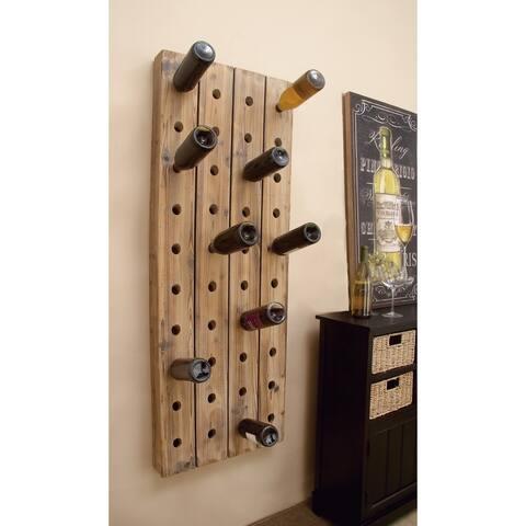 Carbon Loft Graysen Wood Finish Pegboard Wine Rack