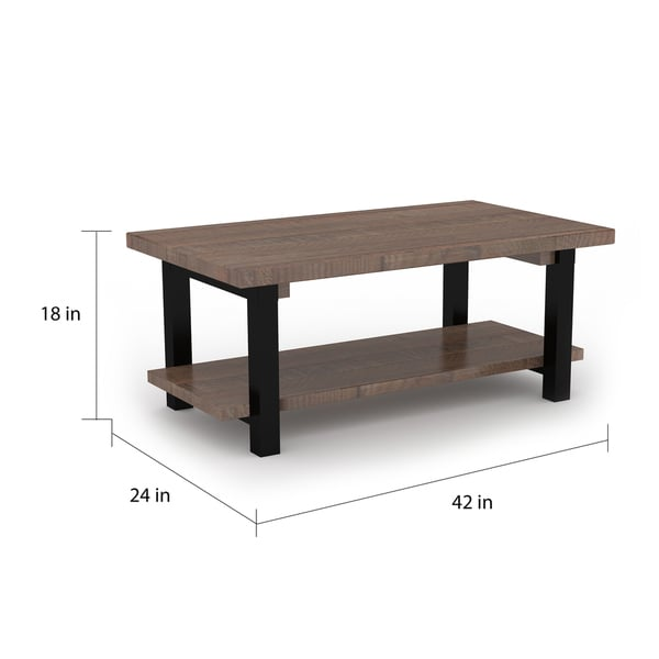 Carbon Loft Lawrence 48-inch Metal and Reclaimed Wood Coffee Table