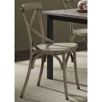 The Gray Barn Santa Rosa Distressed Metal X-back Side Chair