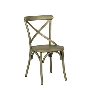 The Gray Barn Santa Rosa Distressed Metal X-back Side Chair