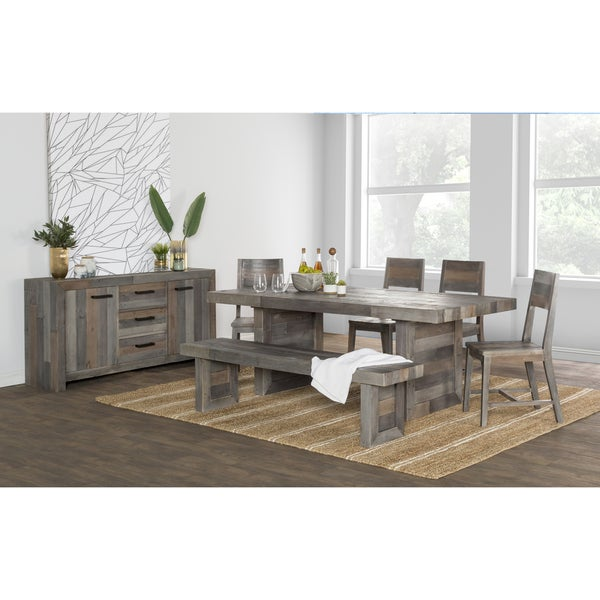 The Gray Barn Buffalo Horn Reclaimed Wood Dining Table