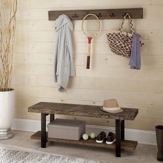 Link to Carbon Loft Lawrence Coat Hook and Bench Set Similar Items in Living Room Furniture