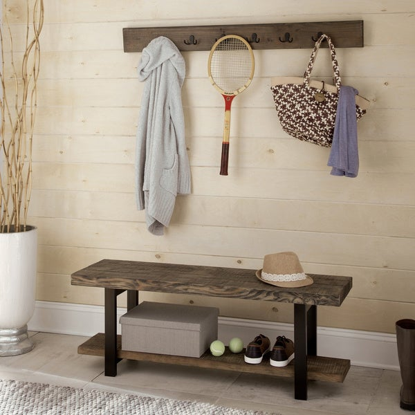 Carbon Loft Lawrence Coat Hook and Bench Set