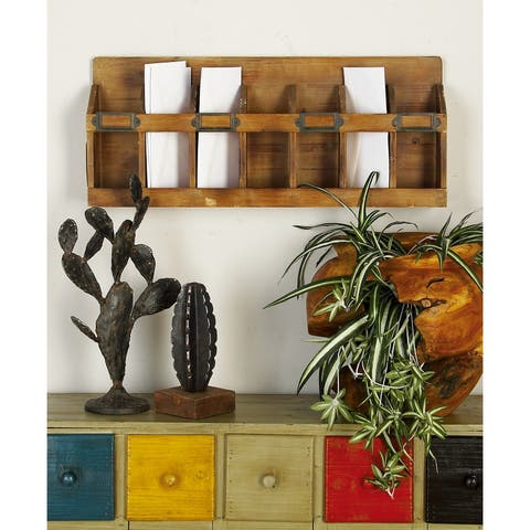 The Gray Barn Red River Distressed Mahogany Wood Wine Rack