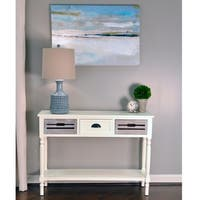 The Gray Barn Old Stone 3-drawer Wood Console Table