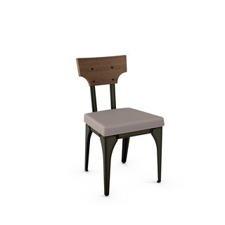 Carbon Loft Kettering Metal Chair with Distressed Wood Backrest (Set of 2)