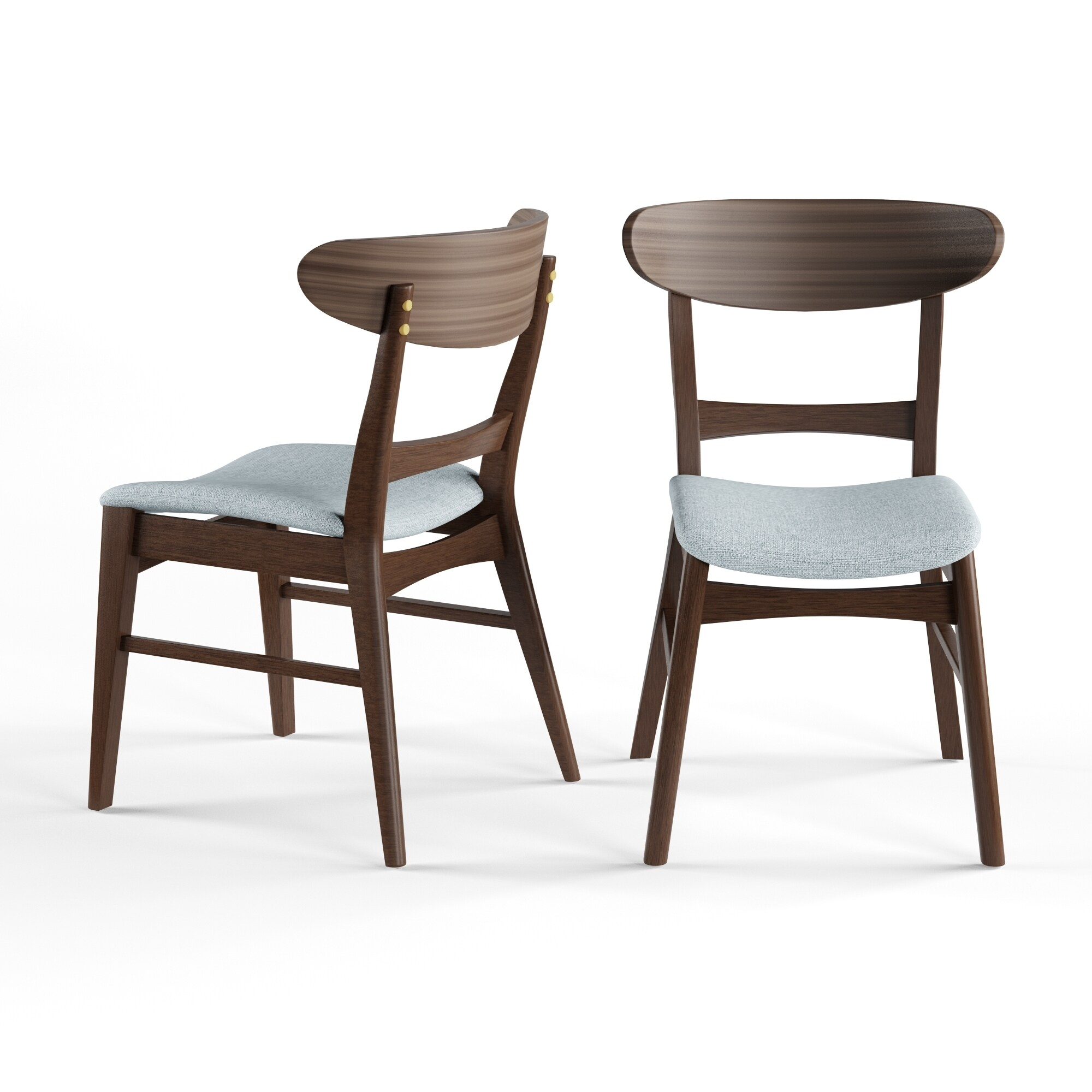 Carson Carrington Ballerup Mid Century Fabric Dining Chair (Set Of 2)  (Option